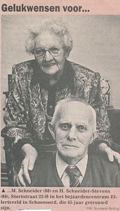 Matthijs Schneider en H. Schneider-Stevens