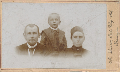Gezin Willem Trip, foto, ca 1903