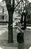 Paul Schreiner carried by father Charles Schreiner, 1949
