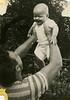 Charles Schreiner holding son Bob, Aug 16, 1946