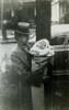 Matilda Hagey with grandson Bob Schreiner, day of his baptism, 1946