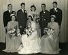 Charles Schreiner and Betty Hagey wedding, Jan 1, 1942:  George Gerbeth, Charles Schreiner, Leona Geise Behling, Julius Vargo, Bob Hagey, Margaret Schreiner, Betty Hagey Schreiner, Olga Schreiner