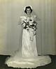 Betty Schreiner on her wedding day, Jan 1, 1942