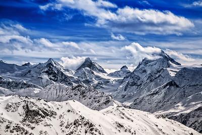 Matterhorn und Dent Blanche