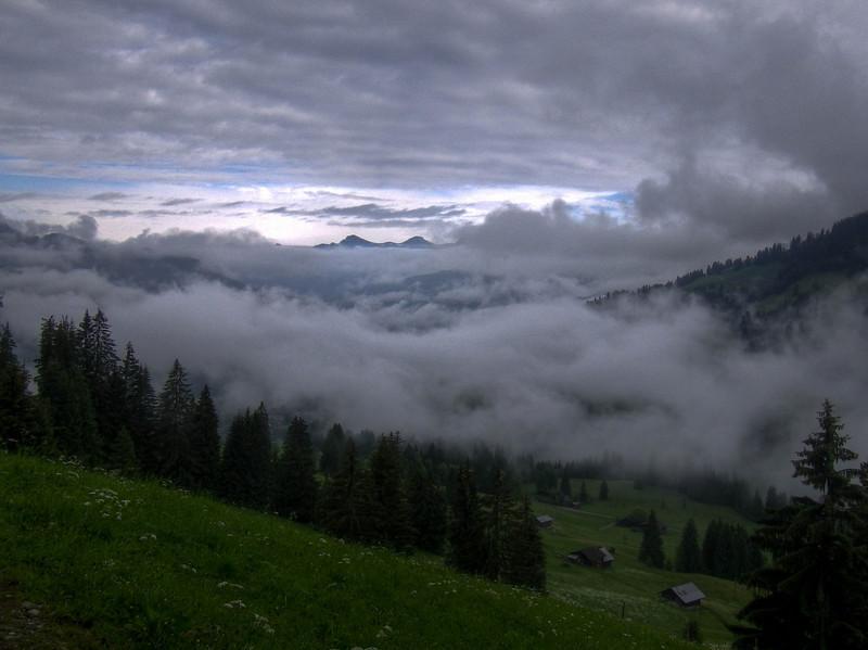 Sicht von Scheidbach nach Gstaad