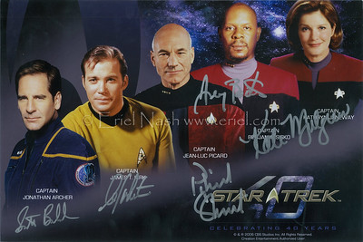Scott Bakula, William Shatner, Patrick Stewart, Avery Brooks, Kate Mulgrew