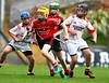 EEXXjob SPORT 30/05/2017 Sciath na Scol Finals played at Pairc Ui Rinn.  St. Anthony's v Cloghroe .  Darragh Browne St. Anthony's outsteps his apponents during Tuesday's Sciath na Scol Final played at Pairc ÚI Rinn.  Picture: Andy Jay