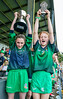 EEXXjob SPORT 31/05/2017 SPORT  Allianz Sciath na Scol Finals played at Pairc Ui Rinn. DH4 Knockavilla v Ballinspittle.  Raising the hardware Vice Captain Ciara Taheny and Captain Ella Ronan.  Picture: Andy Jay