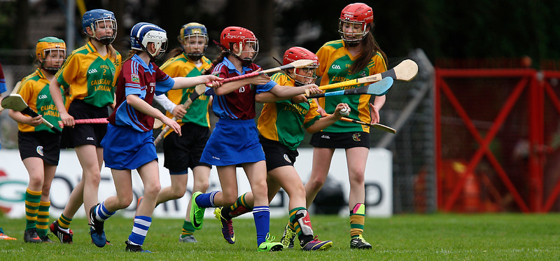 EEXXjob SPORT 30/05/2017 Sciath na Scol Finals played at Pairc Ui Rinn. C5 Berrings v Castlelyons .  Lilly Boyd Castlelyons runs the gauntlet to maintain possession for Castlelyons.  Picture: Andy Jay