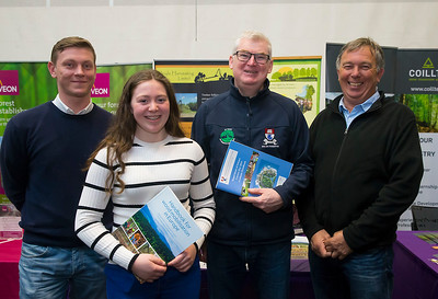 09/03/2019. Pictured at the Waterford Institute of Technology Science Careers Day.  Pictured are Jason Skelly Wicklow, land managemant in forestry, Emma Doyle Wicklow, Tom Kent lecturer in forrestery and Pat Doyle Wicklow. Picture: Patrick Browne