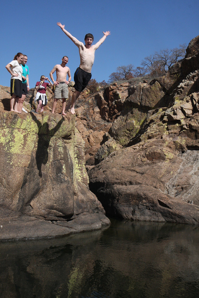 We did some great cliff jumping.