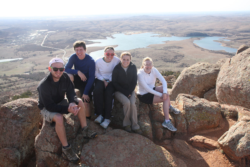 On top of Mount Scott.