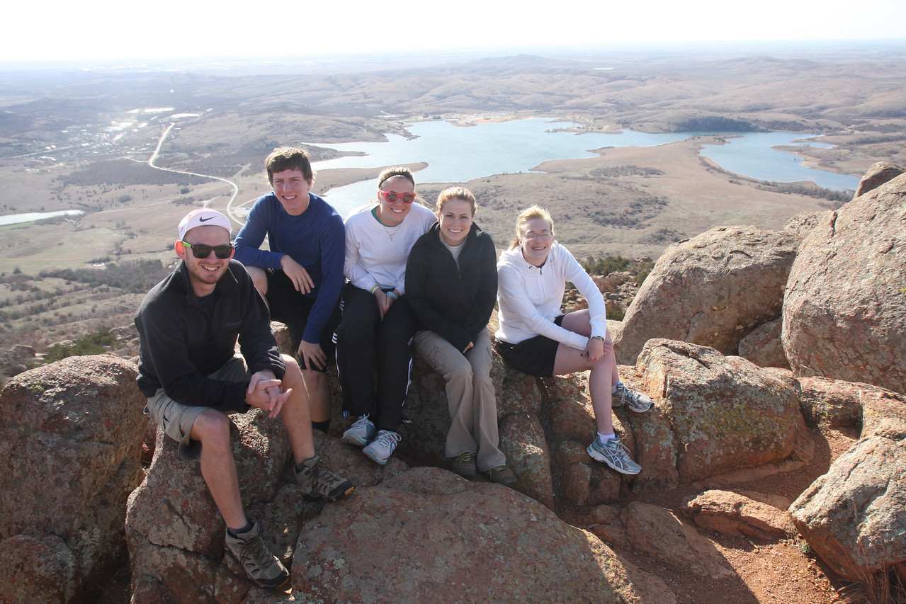 On top of Mount Scott.