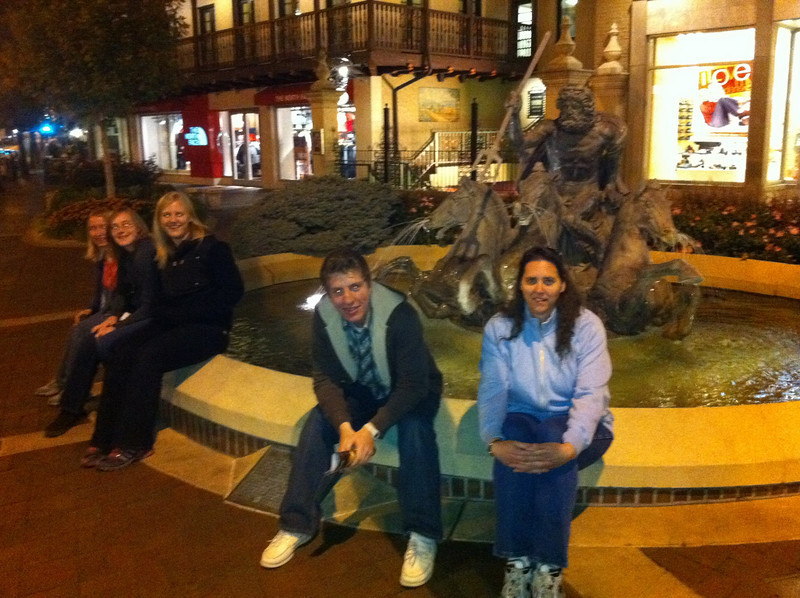 Hanging at the plaza
