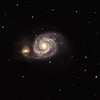 M51 Whirlpool Galaxy and NGC5195