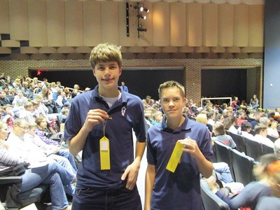Paul Brull and Logan Olmstead Science Olympiad