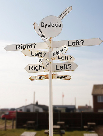 Dyslexics often confuse left and right