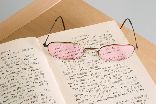 Tinted glasses or sheets can be used to prevent words on the page blurring or moving for those with scotopic sensitivity