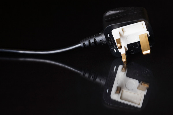 3 pin British plug used to connect electrical appliances to the mains. BS 1363.