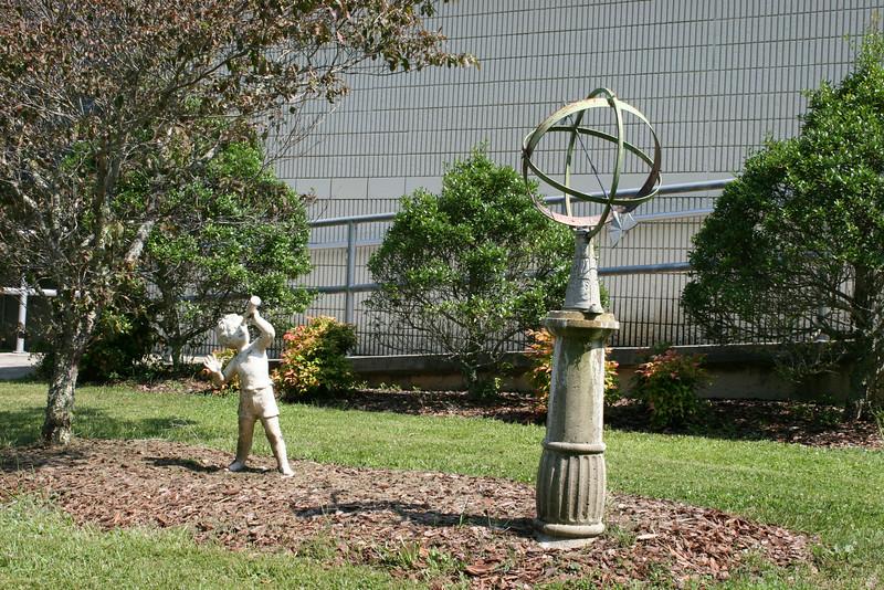 Sculpture at main building