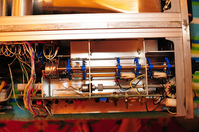 Detail on rotary switch controlling vertical amplifier.