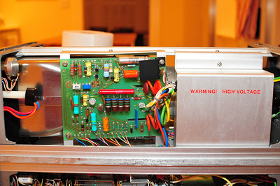 Two power supplies, both for HV (flyback-style supply hidden under panel)
