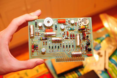 A power supply board.
