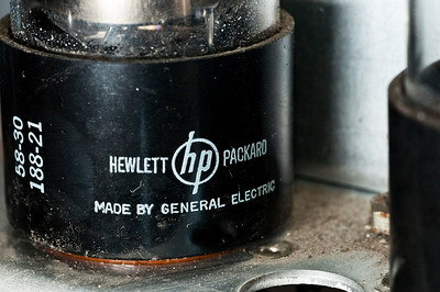 All tubes are functional and HP brand (excluding the metal-cased oscillator pentode, which is RCA.)
