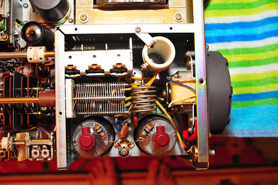 Top-down view of power amplifier section.