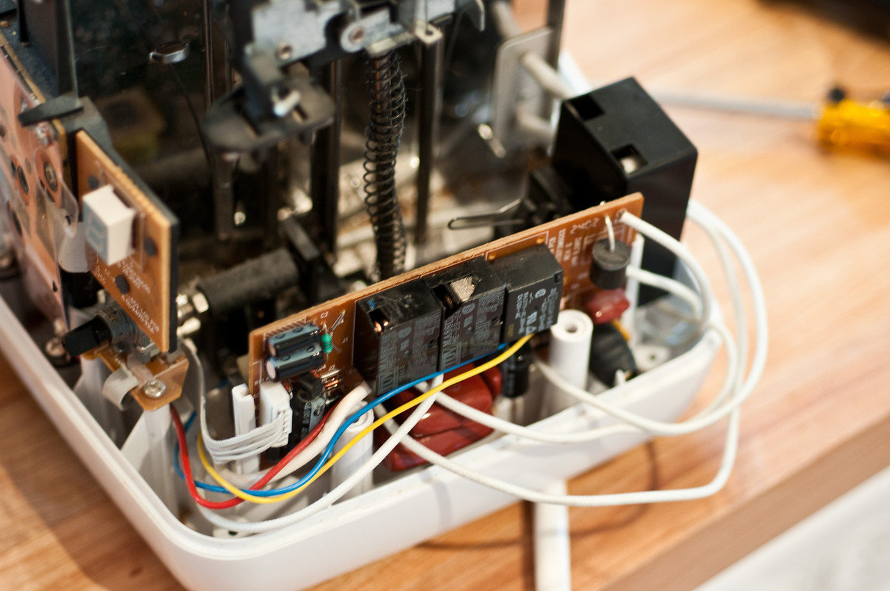 Another view of the power board.