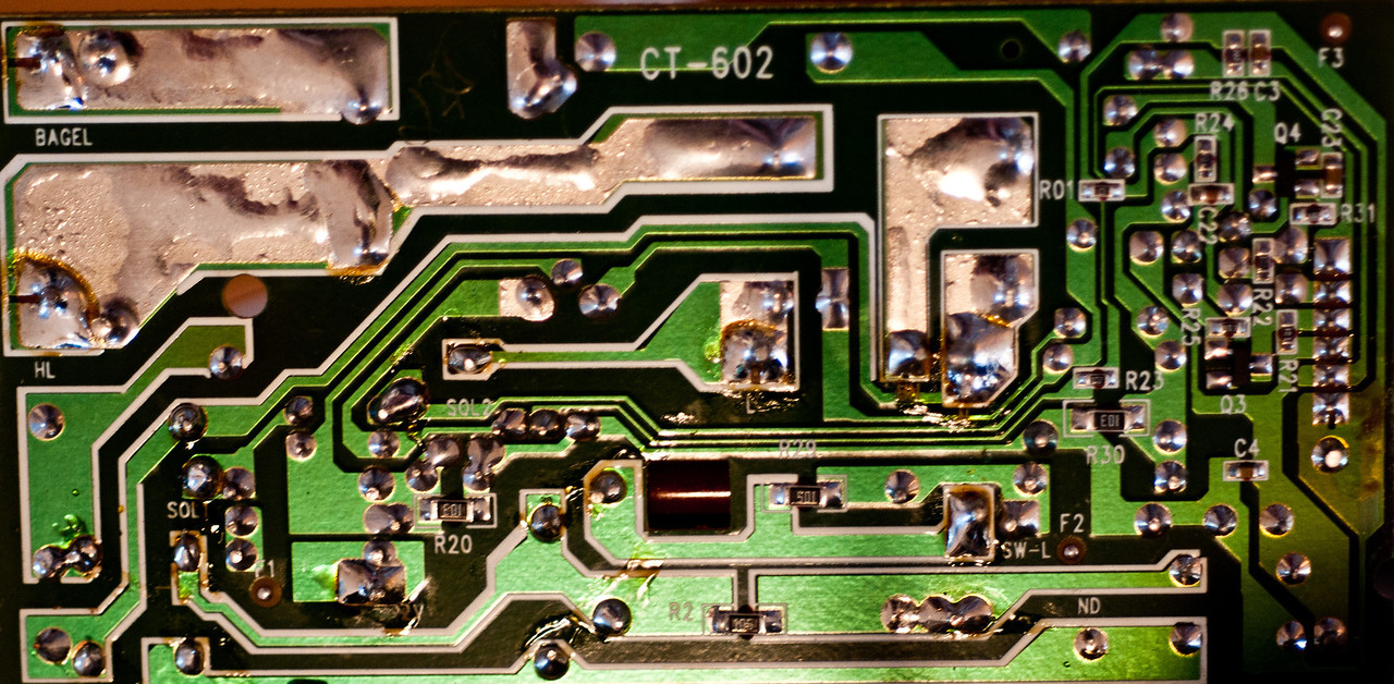 Detail of  power PCB.