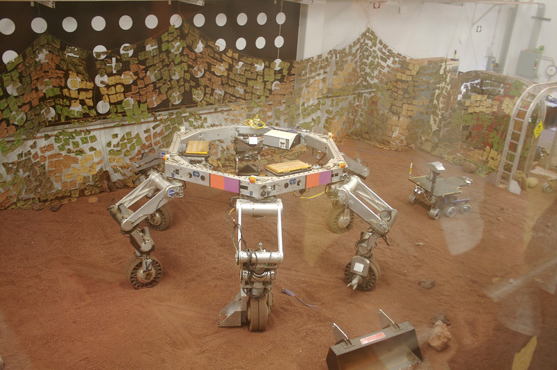 """Working robot in """"Sandbox"""" where exact replicas of launched missions can be tested."""