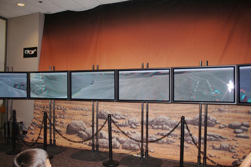 3D panorama of Mars crater