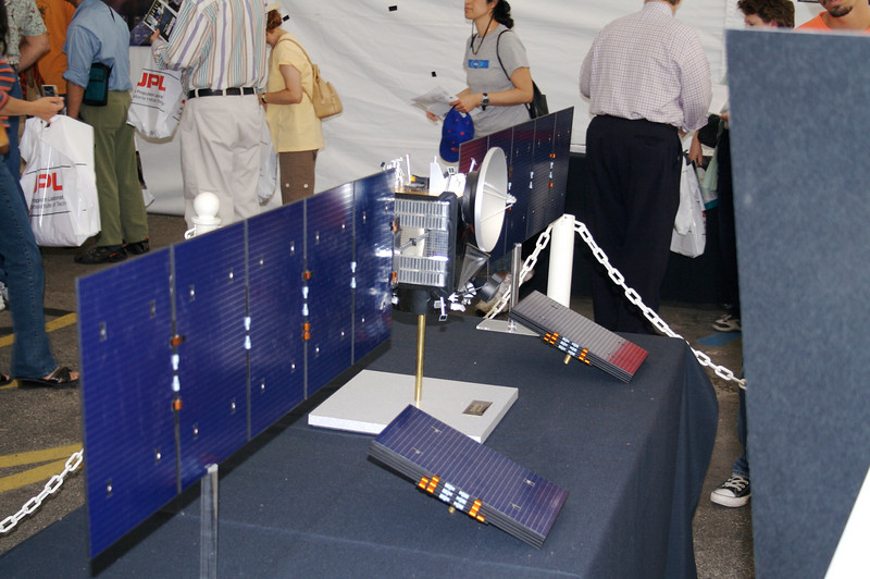 Model of Dawn mission to Ceres and Vega, launching<br /> in Summer 2007.  Uses solar-powered ion engine plus<br /> gravity assist from Mars.