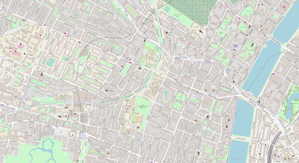 Kopenhagen Stadtplan No. 3