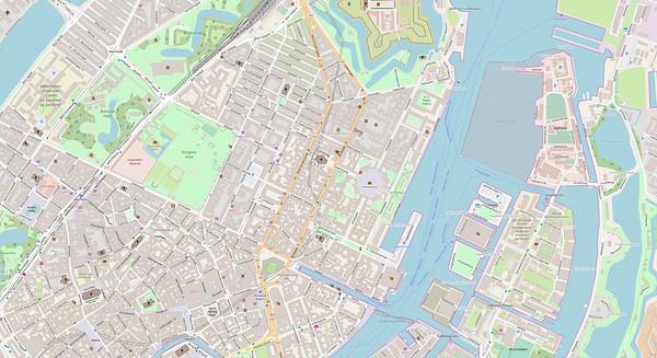 Kopenhagen Stadtplan No. 12