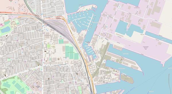 Kopenhagen Stadtplan No. 14