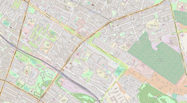 Berlin Stadtplan Map No. 25
