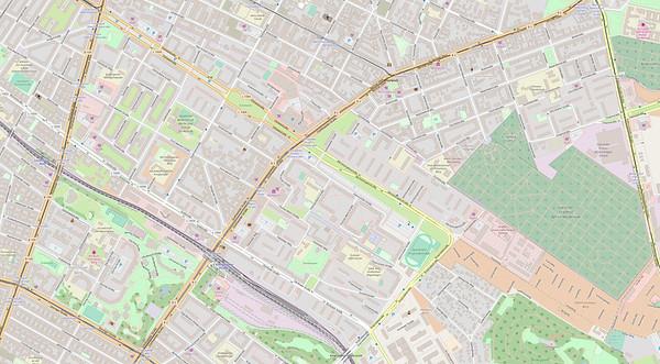 Berlin Stadtplan Map No. 25