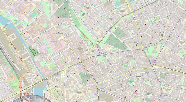 Berlin Stadtplan Map No. 22