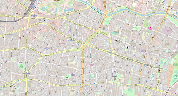 Berlin Stadtplan Map No. 10b
