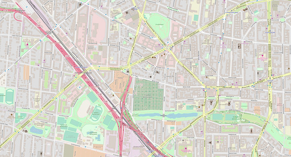 Berlin Stadtplan Map No. 6
