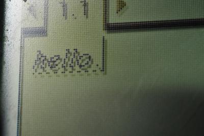 Calculator display.