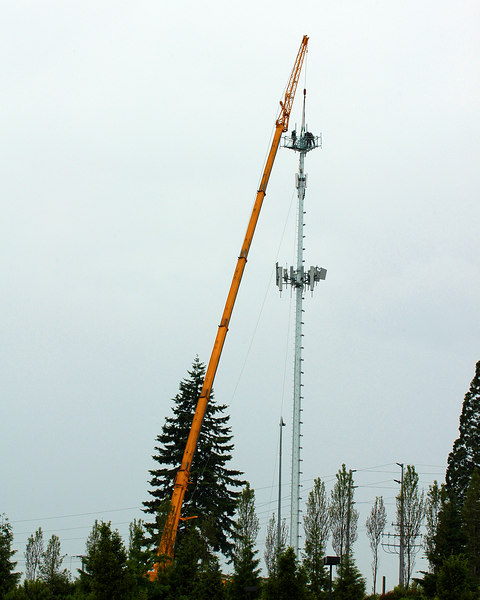 Crane on Cell Tower