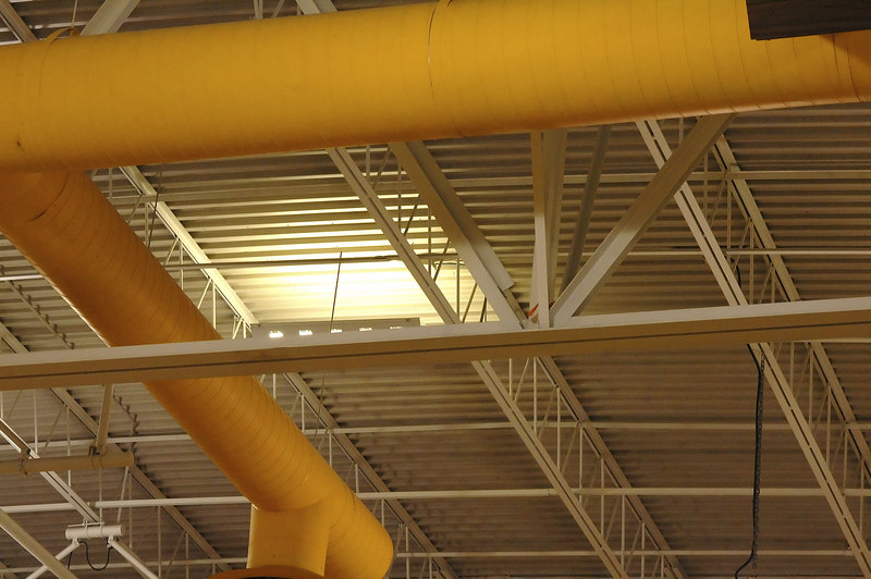 Ventalation Ducts at EWHS gym<br /> Right angles and isometric view.
