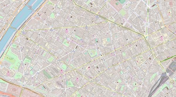 Paris Stadtplan Maps No. 9