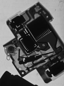 Circuit breaker, inverted.