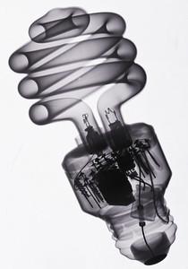 CFL lamp, inverted.