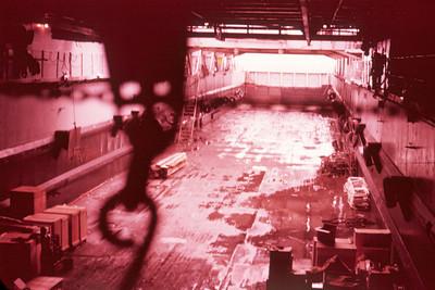 Hold of the landing ship dock LSD-1