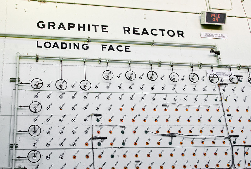 The loading face of Oak Ridge's historic (early WWII-era) Graphite Reactor.